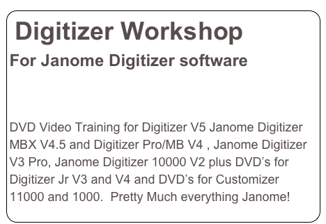 Digitizer Workshop 